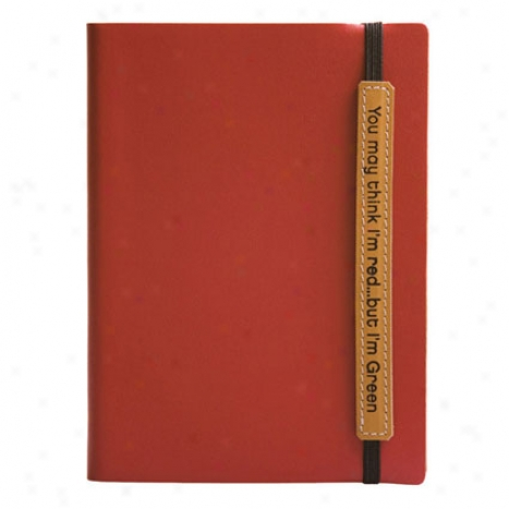 Eccolo Terra Lined Journal - Red