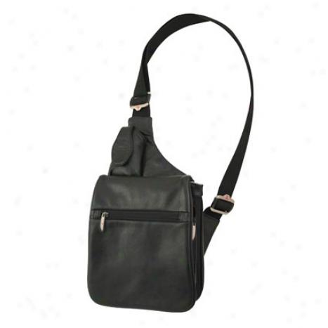 Expandable Messenger Style Shoulder Bag -  Mourning
