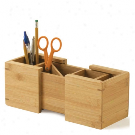 Expandable Pencil Holder By Lipper International - Bamboo