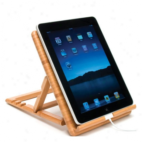 Expandable/adjustable Ipad Remain 4 Positions By Lipper Internatjonal - Bamboo