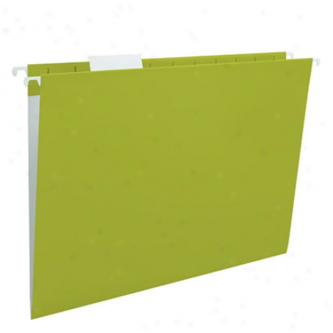 Gentility Hanging Folder 5 Pk 1/5 Cut Tab By Smead - Green