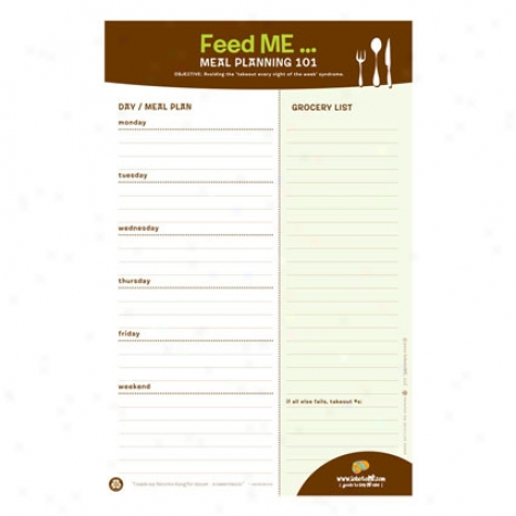 Nourish Me Note Pad By Lobotome