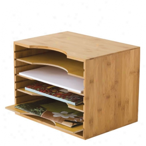File Organizer W/ 4 Dividers By Lipper International - Bamboo