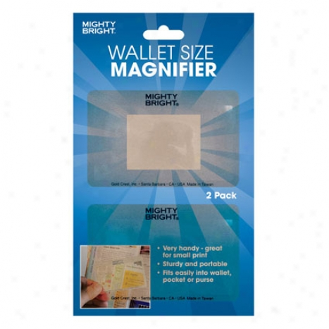 Flexthin Magnifier By Mighty Bright - Wallet Size