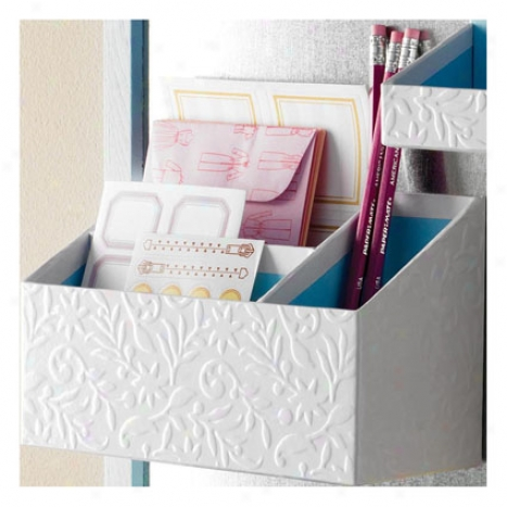 Flora Organizer Bin In proportion to Design Ideas - White/blue