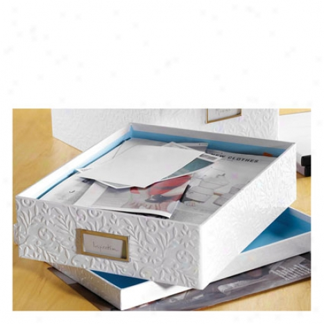 Flora Paperbox By Design Ideas - White/blue