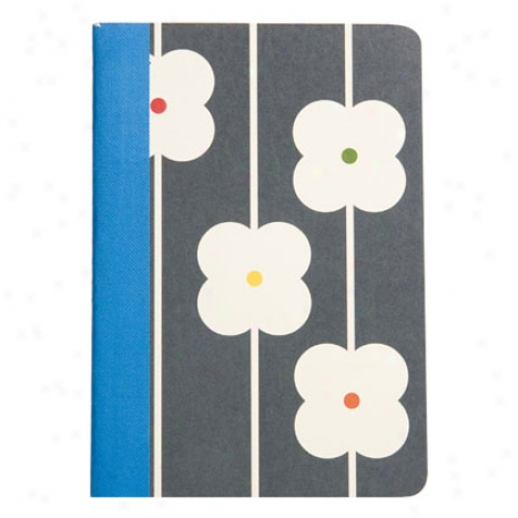 Flower Abacus Comp Notebook By Orla Kiely - Grey
