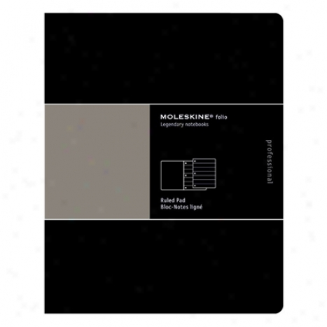 Folio Professional Ruled Pad By Moleskine - Black