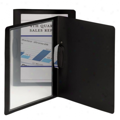 Frame View Poly Report Covers W/ Swing Clip Representation Orientation 5 Pk By Smead - Black