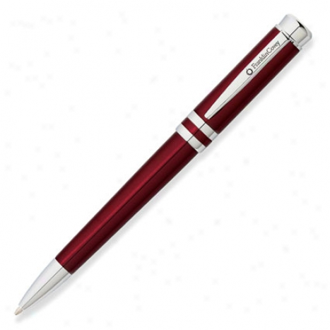Freemont Ballpoint Pen By Franklincovey- Vineyard Red Lacquer/chrome