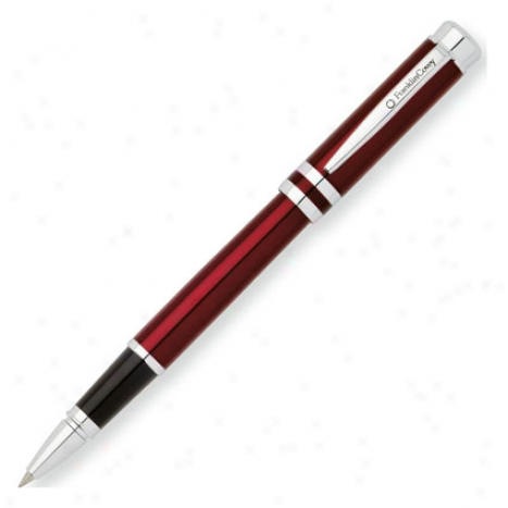 Freemont Rolling Ball Pen By Frwnklincovvey - Red Lacquer/chrome