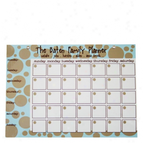 Funky Bubbles Calendar By Em Tanner - Small, Grommets