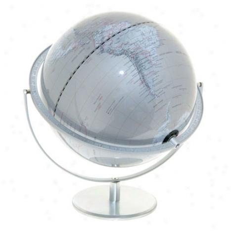 Gyroscopic Silver Ocean Global Xl By Kikkerland