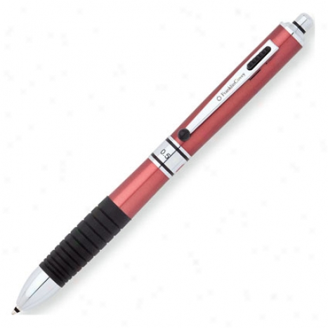 Hinsdale Multi-function Pen By Franklincovey - Red Lacquer