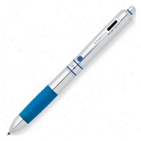 Hinsdale Multi-function Pen Personalized By Franklincovey - P0lished Chrome Varnish