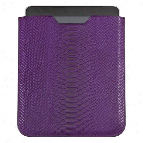 Ipad Sleeve By Graphic Image - Purple Cayman Python
