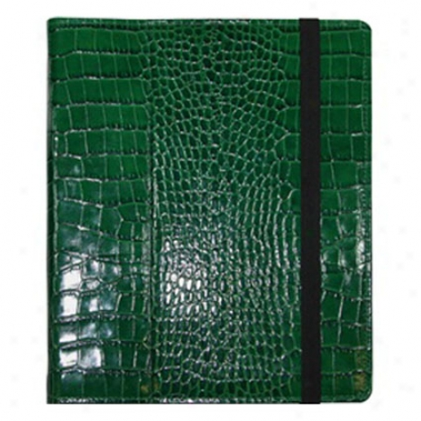 Ipad/ipad 2 Case Crocodile Embossed Leather By Graphic Image - Green