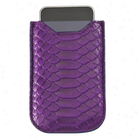Iphone Case By Graphic Idol - Purp1e Cayman Python