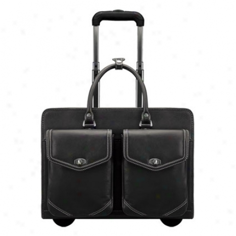 Jacqueline Rolling Laptop Case - Black