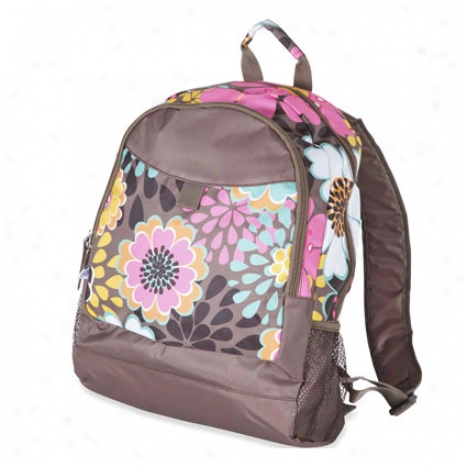 Junior Backpack By Room It Up - Mocha Flower