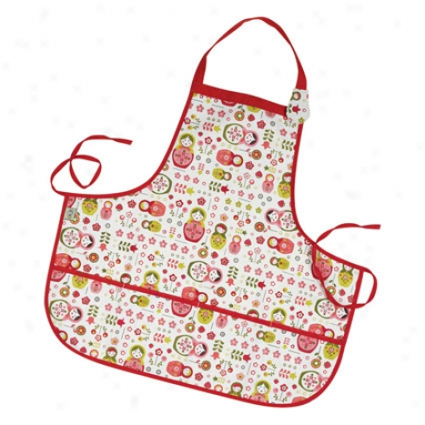 Kiddie Apron By O.r.e. Originals - Matryoshka Doll