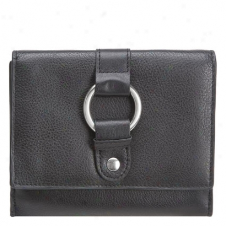 Ladies Leather Wallet - Black