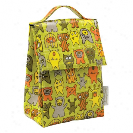 Laminated Lunch Sack By O.r.e. Originals - Poor Monsters