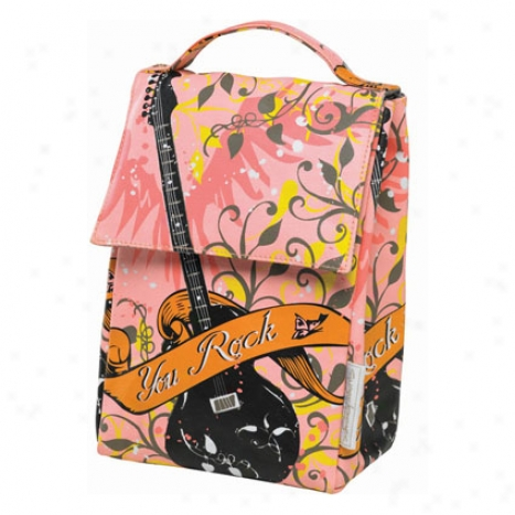 Laminated Lunch Sack By O.r.e. Originals - You Rock Girl