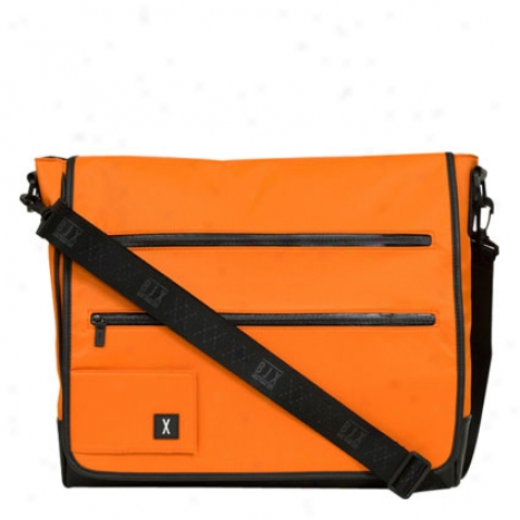 Laptop Messenger Sack Nylon By Bjx - Electric Tangerine