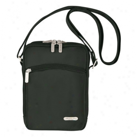 Large 3 Compartment Expandable Shoulder Bag -  Murky Microfiber