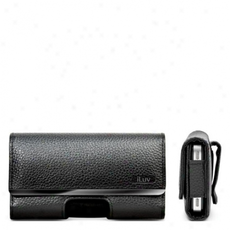 Leatherette Case Witb Clip For Iphone 4 By Iluv