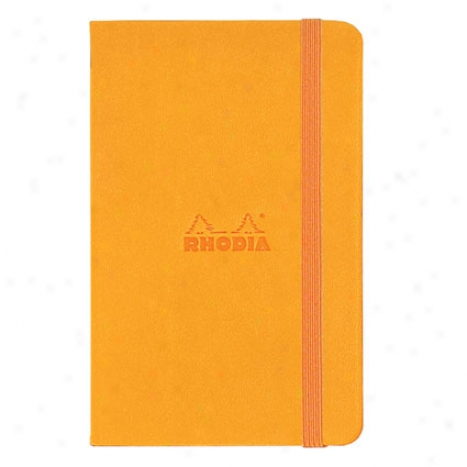 Lined Webnotesbook 3 1/2 X 5 1/2 By Rhodia - Orange