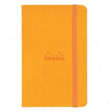 Lined Webnotesbook 3 1/2 X 5 1/2 By Rhodia - Orange