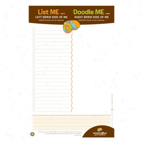 List Me Doodle Me Note Pad By Lobotome
