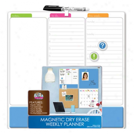 Magnetic Combo Board Tile 14 X 14 By Board Dudes