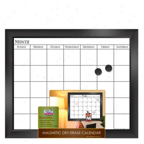 Magnetic Dry Erase Calendar Black Frame 18 X 22 By Food Dudes