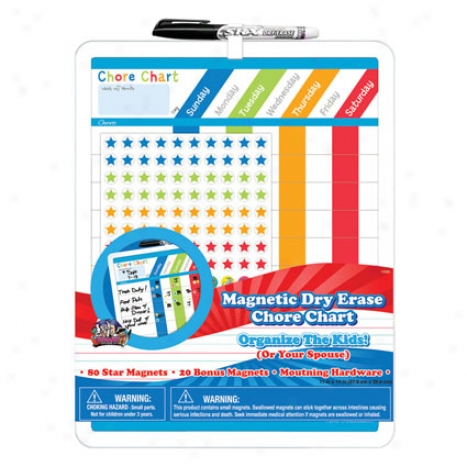 Magnetic Dry Erase Rewards Chore Chart 11 X 14 Along Board Dudes