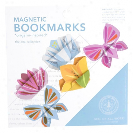 Magnetic Origami Bookmarks By Girl Of All Work - Blossoms