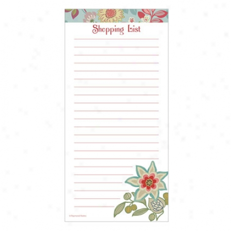 Magnetic Shopping List Pad By Cr Gibson - Piccadilly