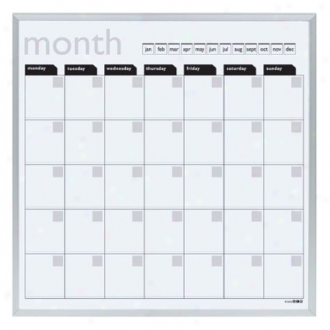 Magnetic Wall Calendar & Dry Erase Board By O.r.e. Originals - White