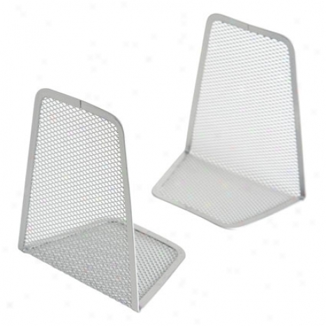 Mesh Book Ends By Design Ideas - Silver