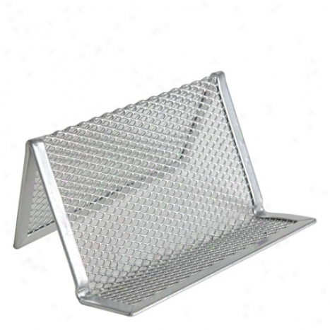 Mesh Business Card Holder By Design Ideas - Silver