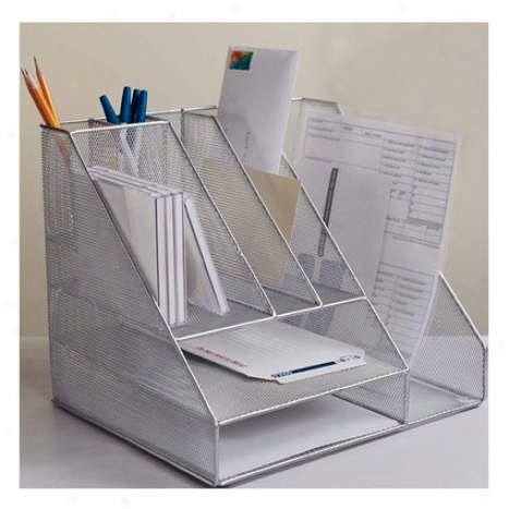 Mesh Desk Organizer Bt Design Ideas - Silver