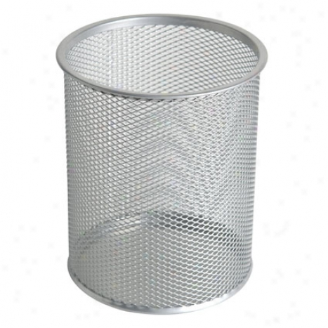 Mesh Giant Pebcil Cup By Design Ideas - Silver