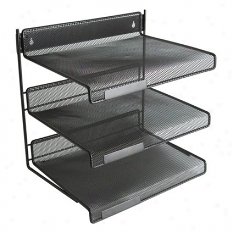 Mesh Three-tier Desk Shelf In proportion to Design Idas - Black