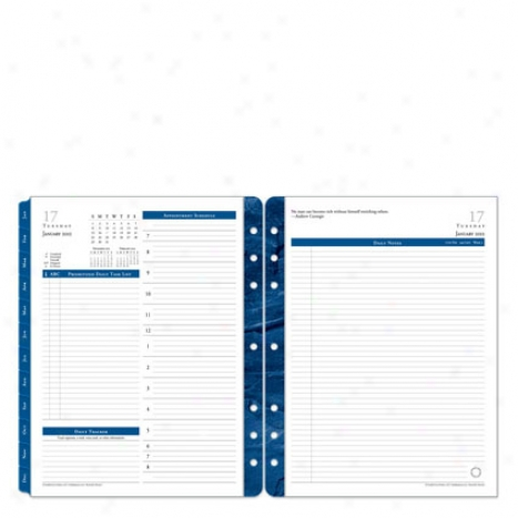 Monarch Monticello Ring-bound Daily Planner Refill - Jul 2012 - Jun 2013