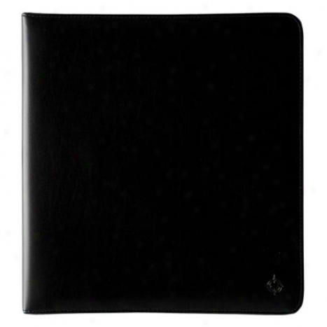 Monarch Simulated Leather Open Binder - Black