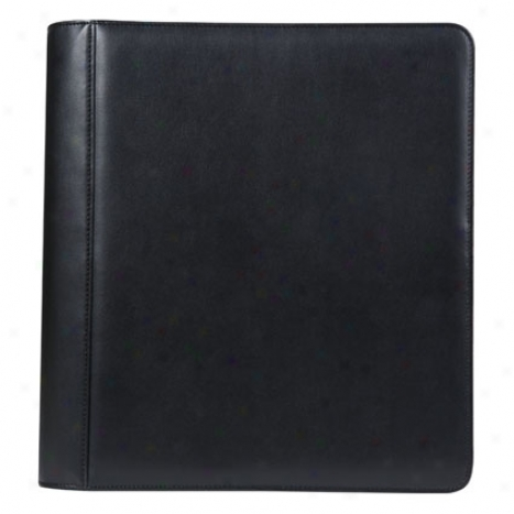Monarch Simulated Leather Zipper Binder - Black