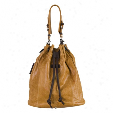 Naomi Drawstrin gBag By Ellington Handbags - Tan