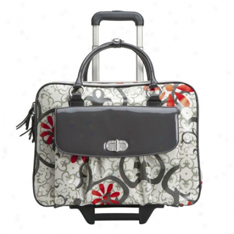 Natasha Rolling Laptop Case - Charcoal/ivory